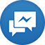 Facebook Messenger flat circle icon