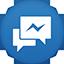 Facebook Messenger flat circle icon