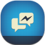 Facebook Messenger Flat Round icon