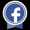 Facebook Round Ribbon-128