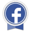 Facebook Round Ribbon icon