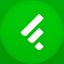 Feedly flat circle icon