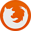 Firefox flat circle icon