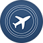 Flighttrack flat circle icon