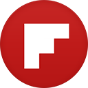 Flipboard flat circle-128