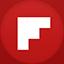 Flipboard flat circle icon