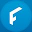 Flipster flat circle icon