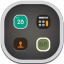 Folder System Flat Round icon
