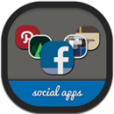 Folders Social Flat Round