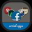 Folders Social Flat Round Icon