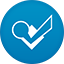 Foursquare flat circle icon