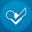 Foursquare flat circle Icon
