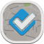 Foursquare Flat Round Icon