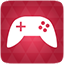 Gaming red icon