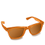 Glasses Orange Icon