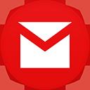 Gmail flat circle-128
