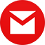 Gmail flat circle icon