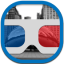 Goggles Flat Round icon