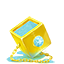 Golden cube icon