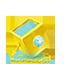 Golden cube icon
