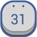 Google Calendar Flat Round