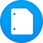 Google Docs flat circle icon