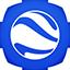 Google Earth flat circle icon