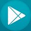 Google Play flat circle icon