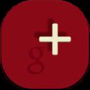 Google Plus Flat Round