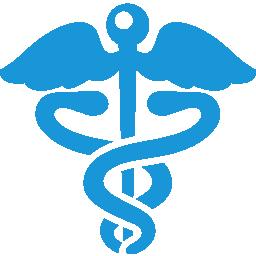 Health Sign blue