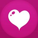 Heart flat circle-128