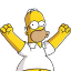 Homer Simpson Happy Icon