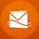 Hotmail flat circle-128