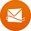 Hotmail flat circle icon