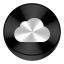 Icloud Black Drive Circle icon