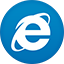 Ie flat circle icon
