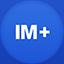 Im+2 flat circle icon