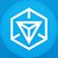 Ingress flat circle icon