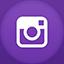 Instagram flat circle Icon