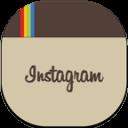 Instagram Flat Round