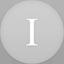 Instapaper flat circle icon
