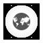 Internet white round Icon