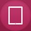 Ipad flat circle icon