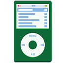 iPod flat green-128