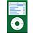 iPod flat green-48
