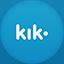 Kik flat circle icon