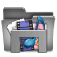 Library For Windows Steel Folder icon