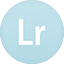 Lightroom flat circle icon