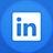 Linkedin flat circle-48