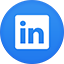 Linkedin flat circle icon